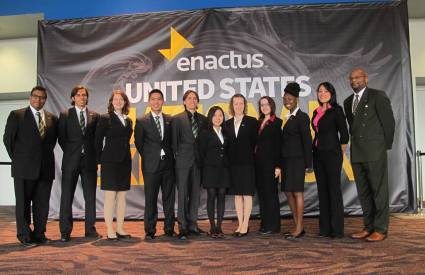 University of South Florida Enactus chapter students at an enactus competition